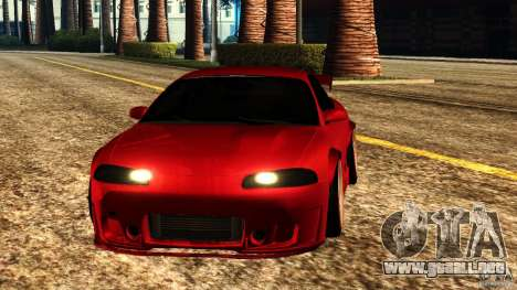 Mitsubishi Eclipse 1998 para GTA San Andreas vista hacia atrás