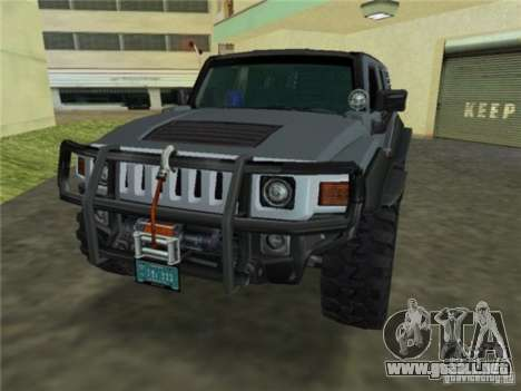 Hummer H3 SUV FBI para GTA Vice City vista lateral izquierdo