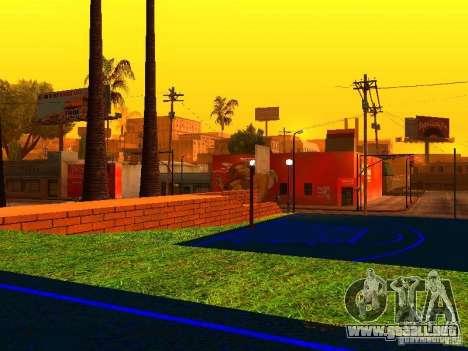 Cancha de baloncesto para GTA San Andreas sucesivamente de pantalla