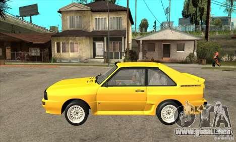 Audi SportQuattro 1983 para GTA San Andreas left