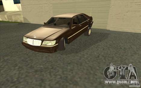 Mercedes-Benz S600 para vista lateral GTA San Andreas