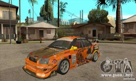 Subaru Impreza D1 WRX Yukes Team Orange para GTA San Andreas