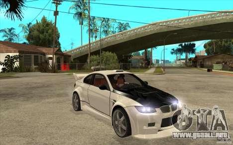 BMW M3 e92 para GTA San Andreas vista hacia atrás