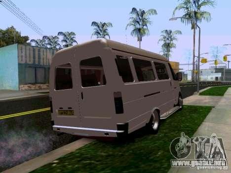 Gacela 32213 1994 para GTA San Andreas vista posterior izquierda