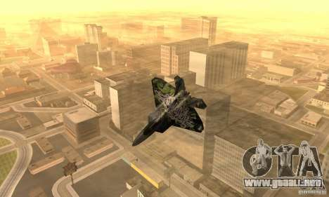 F-22 Raptor Graffity Skin 2 para GTA San Andreas left