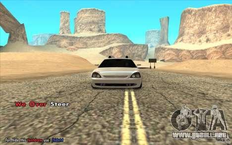 Lada Priora Final Tuning para GTA San Andreas vista posterior izquierda