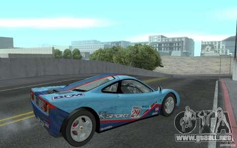Mclaren F1 road version 1997 (v1.0.0) para la visión correcta GTA San Andreas