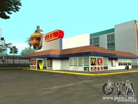 Mc Donalds para GTA San Andreas séptima pantalla