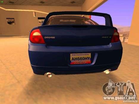 Dodge Neon SRT4 2006 para GTA San Andreas vista posterior izquierda