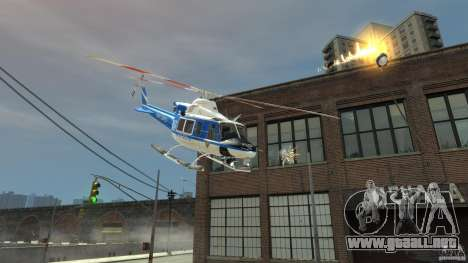 Bell412/NYPD Air Sea Rescue Helicopter para GTA 4 Vista posterior izquierda