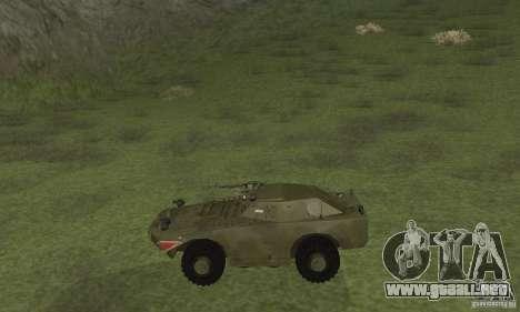 BRDM-1 piel 4 para GTA San Andreas vista posterior izquierda