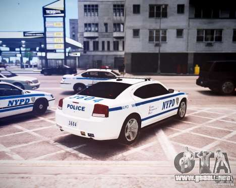Dodge Charger 2010 NYPD ELS para GTA 4 vista hacia atrás