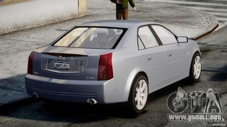 Cadillac CTS-V para GTA 4 Vista posterior izquierda