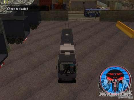 Trolebús LAZ-52522 para GTA San Andreas vista hacia atrás