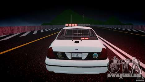 Ford Crown Victoria v2 NYPD [ELS] para GTA 4 interior