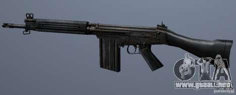 FN FAL para GTA San Andreas sucesivamente de pantalla