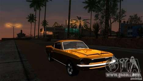 Shelby GT500KR para vista inferior GTA San Andreas