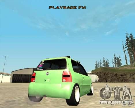 Volkswagen Lupo Hellaflush para visión interna GTA San Andreas