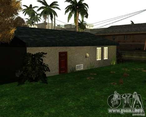 New Ryder House para GTA San Andreas segunda pantalla