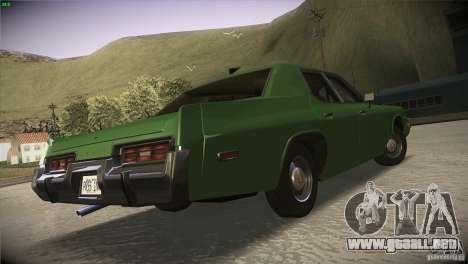 Dodge Monaco para visión interna GTA San Andreas