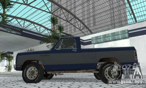 Dodge Prospector 1984 para la visión correcta GTA San Andreas