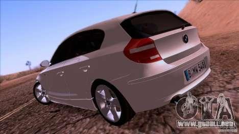 BMW 120i 2009 para la visión correcta GTA San Andreas