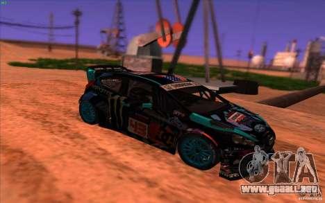 Ford Fiesta H.F.H.V. Ken Block 2013 para la visión correcta GTA San Andreas