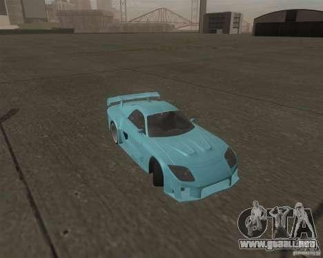Mazda RX-7 Veilside Fortune para GTA San Andreas vista hacia atrás