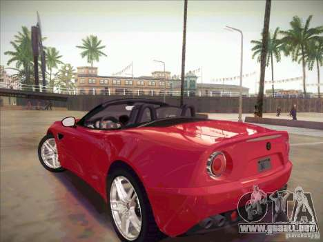 Alfa Romeo 8C Spider para GTA San Andreas left