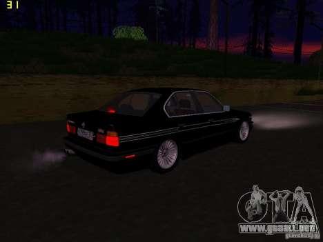 BMW E34 Alpina B10 Bi-Turbo para la visión correcta GTA San Andreas