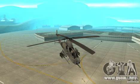Hunter - AH-1Z Cobra para GTA San Andreas vista hacia atrás