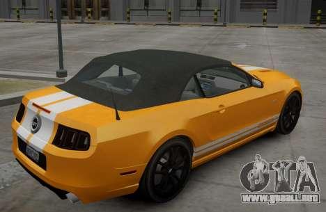 Ford Mustang GT Convertible 2013 para GTA 4 visión correcta
