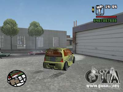 1111 OKA (tuning) para GTA San Andreas vista hacia atrás