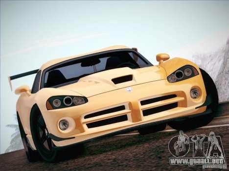 Dodge Viper SRT-10 ACR para visión interna GTA San Andreas