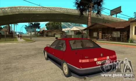 Alfa Romeo 164 para GTA San Andreas vista posterior izquierda