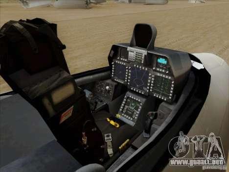 FA22 Raptor para visión interna GTA San Andreas