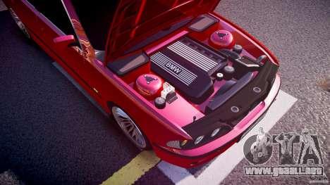 BMW 530I E39 stock chrome wheels para GTA 4 vista desde abajo