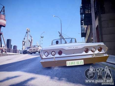Chevrolet Impala 63 para GTA 4 Vista posterior izquierda