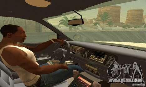 Ford Crown Victoria Texas Police para GTA San Andreas vista posterior izquierda