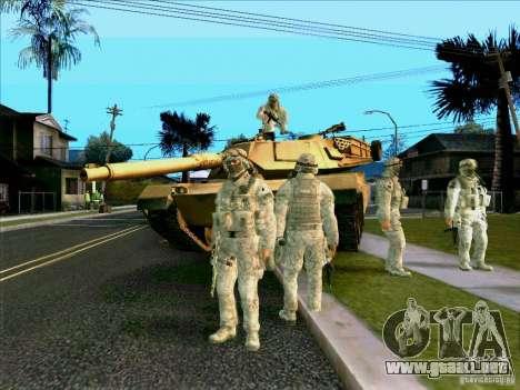 Camuflaje electrónico Morpeh para GTA San Andreas sucesivamente de pantalla