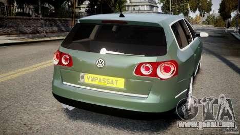 Volkswagen Passat Variant R50 para GTA 4 Vista posterior izquierda