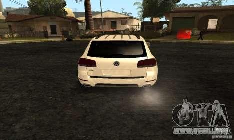Volkswagen Touareg Dag Style para GTA San Andreas vista posterior izquierda