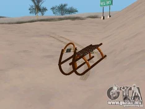 Trineo v2 para GTA San Andreas left