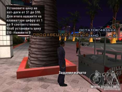 Vendedor de perritos calientes para GTA San Andreas