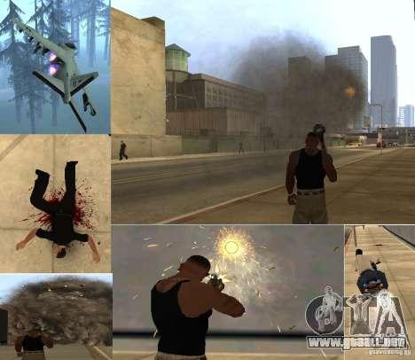 Overdose Effects v 1.4 para GTA San Andreas sucesivamente de pantalla