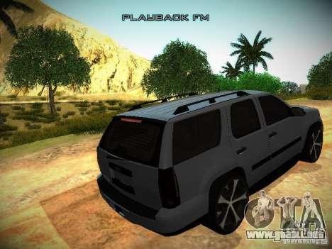 Chevrolet Tahoe HD Rimz para visión interna GTA San Andreas