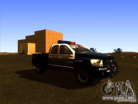 Dodge Ram 1500 Police para GTA San Andreas