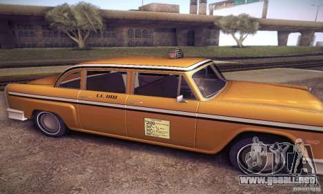 Cabbie HD para GTA San Andreas left