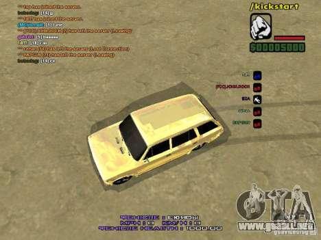 VAZ 2102 oro para GTA San Andreas vista hacia atrás