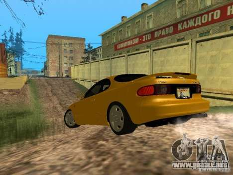 Toyota Celica ST185 1996 para GTA San Andreas vista posterior izquierda